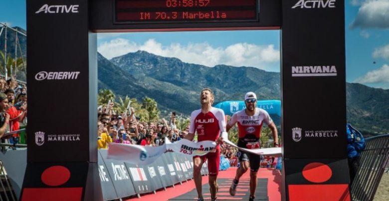 David McNamee prend l'Ironman 70.3 à Marbella dans un sprint très serré