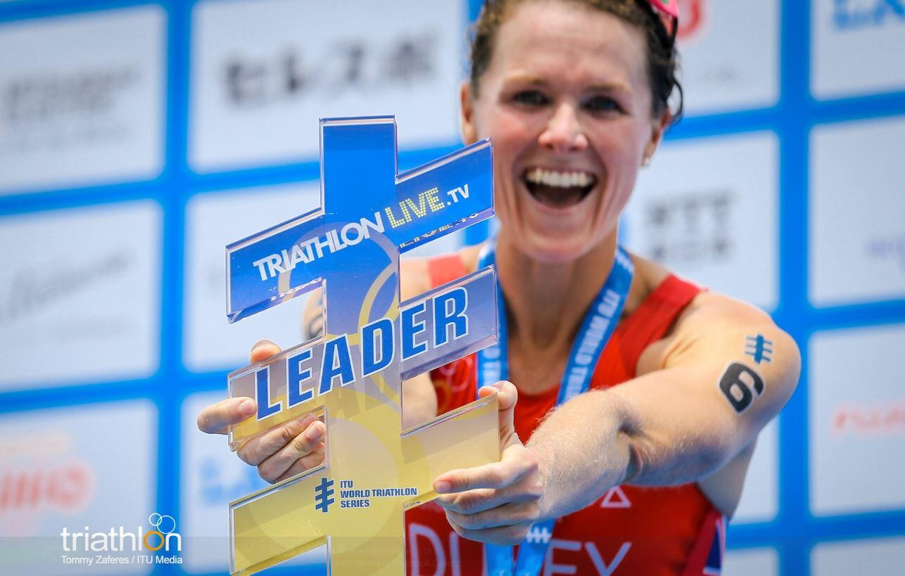 Flora Duffy world leader triathlon Yokohama