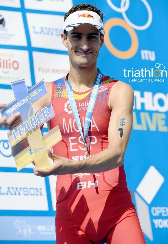 Mario Mola world leader triathlon Yokohama