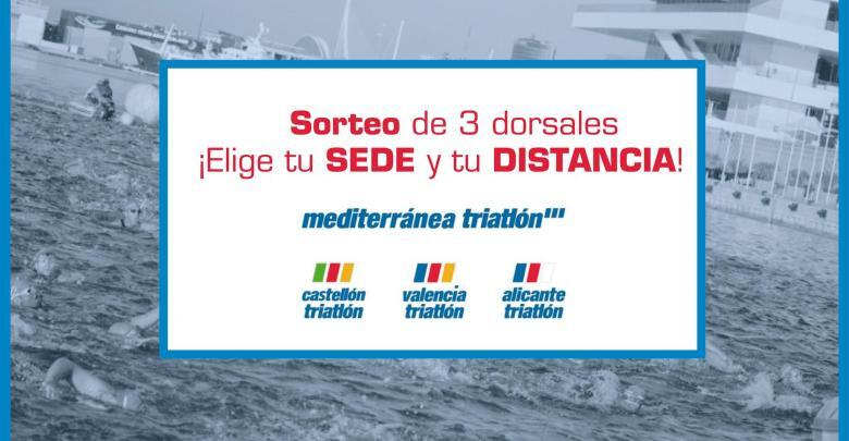 Draw 3 Bibs Mediterranean Triathlon. Win a race number to compete in any race on the circuit!