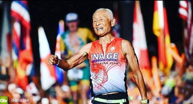 Hiromu Inada de 86 años la estrella del Ironman de Hawaii
