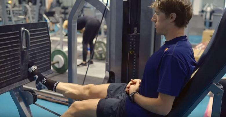 Sebastian Kienle in the gym