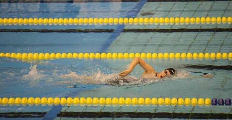 Sesión entrenamiento natación con intervalos