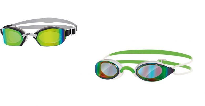 Models Zoggs glasses for swimming and triathlon