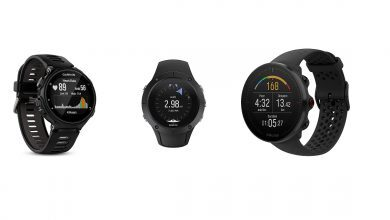 Photo of 3 GPS used by runners and triathletes