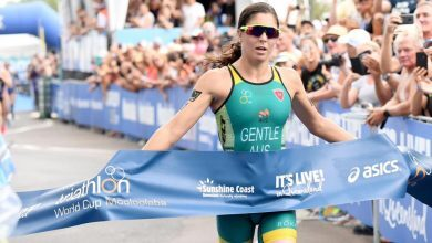 Photo of Ashleigh Gentle and Tyler Mislawchuck win the Mooloolaba World Cup