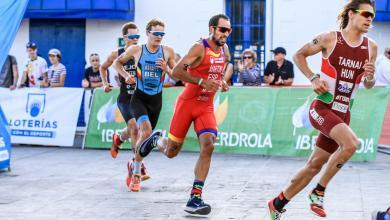 Photo of Emilio Martín and Irene Loizate lead the Spanish in the Duathlon World Championship in Pontevedra