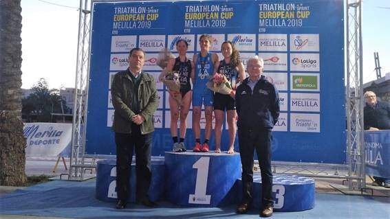 6 Spaniards in the Top 10 of the European Triathlon Cup in Melilla