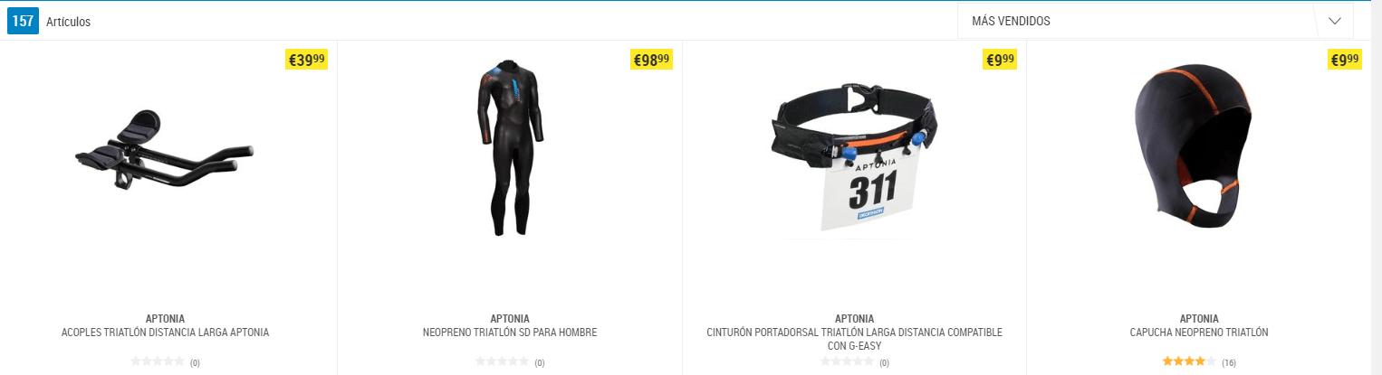 Aptonia, the specific brand of Decathlon for triathlon