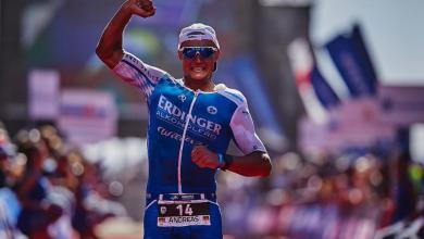 Photo d'Andreas Dreitz remporte l'IRONMAN 70.3 Marbella avec Alistair Brownlee
