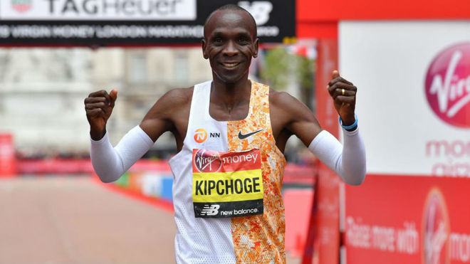 Lágrimas brindis Buena suerte  Eliud Kipchoge, will try again to lose two hours in the marathon