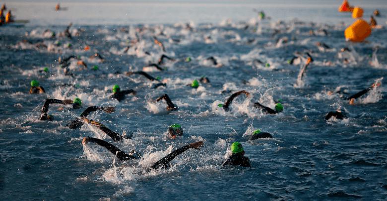 Swimming Ironman 70.3 Barcelona