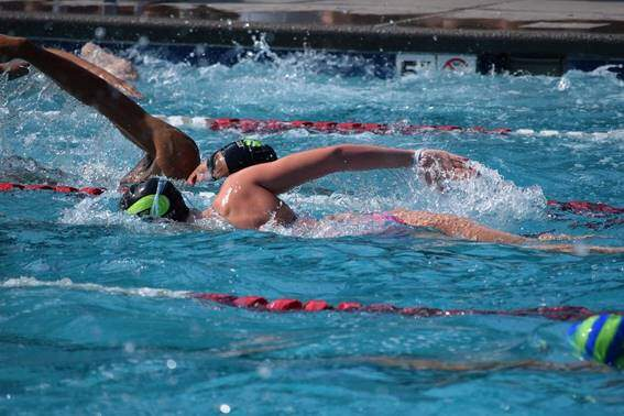 3 swimming training by levels with series of 500, 400 and 300