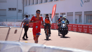 Photo of Javier Gómez Noya Trialtón LD 2019 World Champion. Pablo Dapena second.