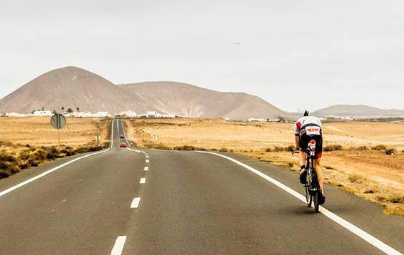 Cycling in the IRONMAN 70.3 Lanzarote