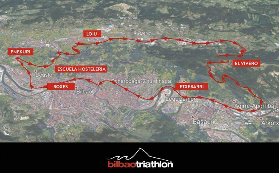 Walking sector Bilbao Triathlon 2019