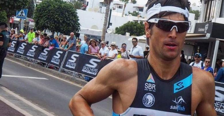 Photo of Miquel Blanchart fifth and Merce Tusell sixth at IRONMAN Barcelona