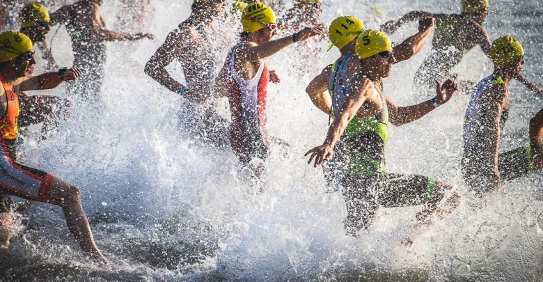 swimming triathlon castellón start