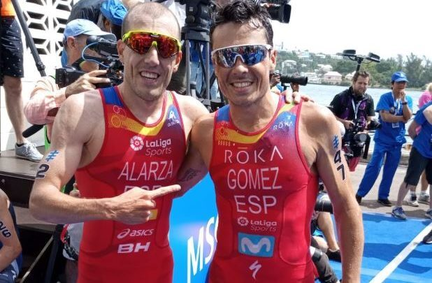 Fernando Alarza and Javier Gómez Noya in the WTS
