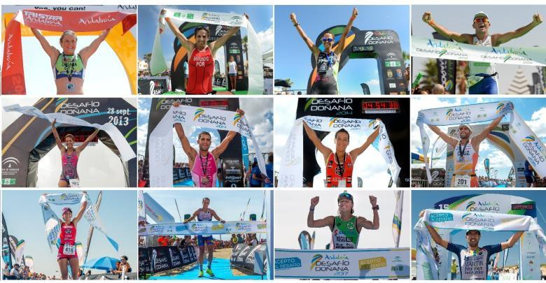 A British, an Italian, a Portuguese and nine Spanish winners of the previous editions of the Doñana Challenge