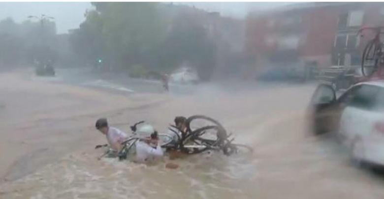 Captura Caída Vuelta ciclista Penedes