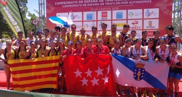 Spanish Triathlon Championship for Autonomies podium