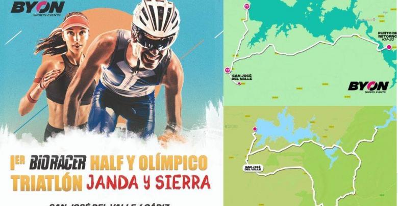 BIO RACER JANDA Y SIERRA triathlon official poster