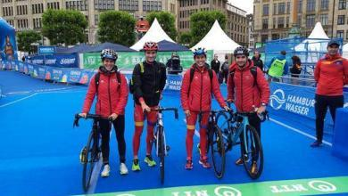 Photo of Spain sixth in the Hamburg mixed relay triathlon