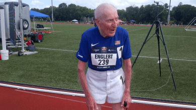 Photo of With 96, Roy Englert gets his fourth world record. It is already the best in 800, 1.500, 3.000 and 5.000 meters
