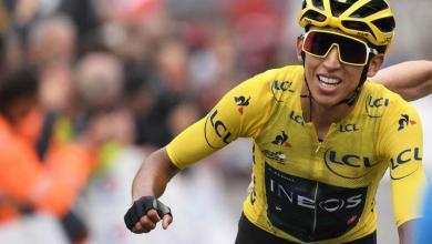 Photo of Egan Bernal, 22, virtual winner of Tour de France