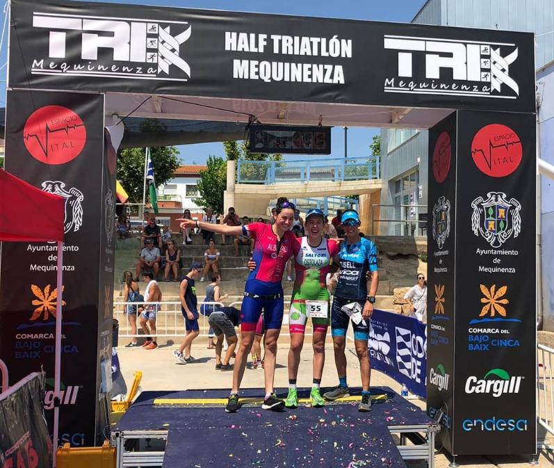Women's podium Half Triathlon Menquinenza