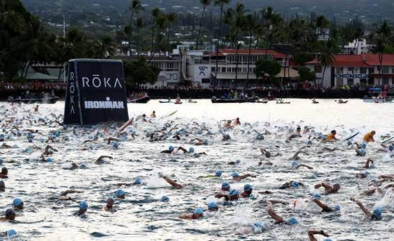 Schwimmabfahrt IRONMAN Kona