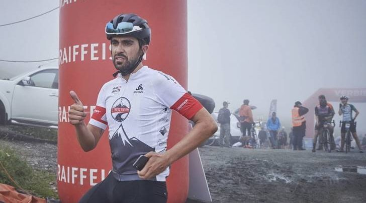 lberto Contador at the end of the Tour des Stations