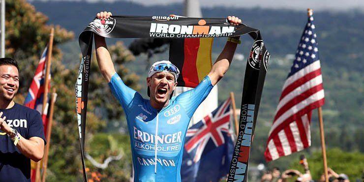 Patrick Lange winning the IRONMAN Hawaiii