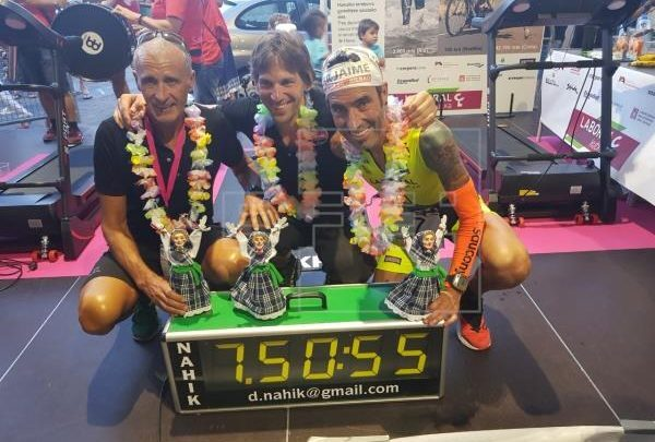 Photo of Beat the IRONMAN record of Hawaii at the Bilbao parties at the Alironman