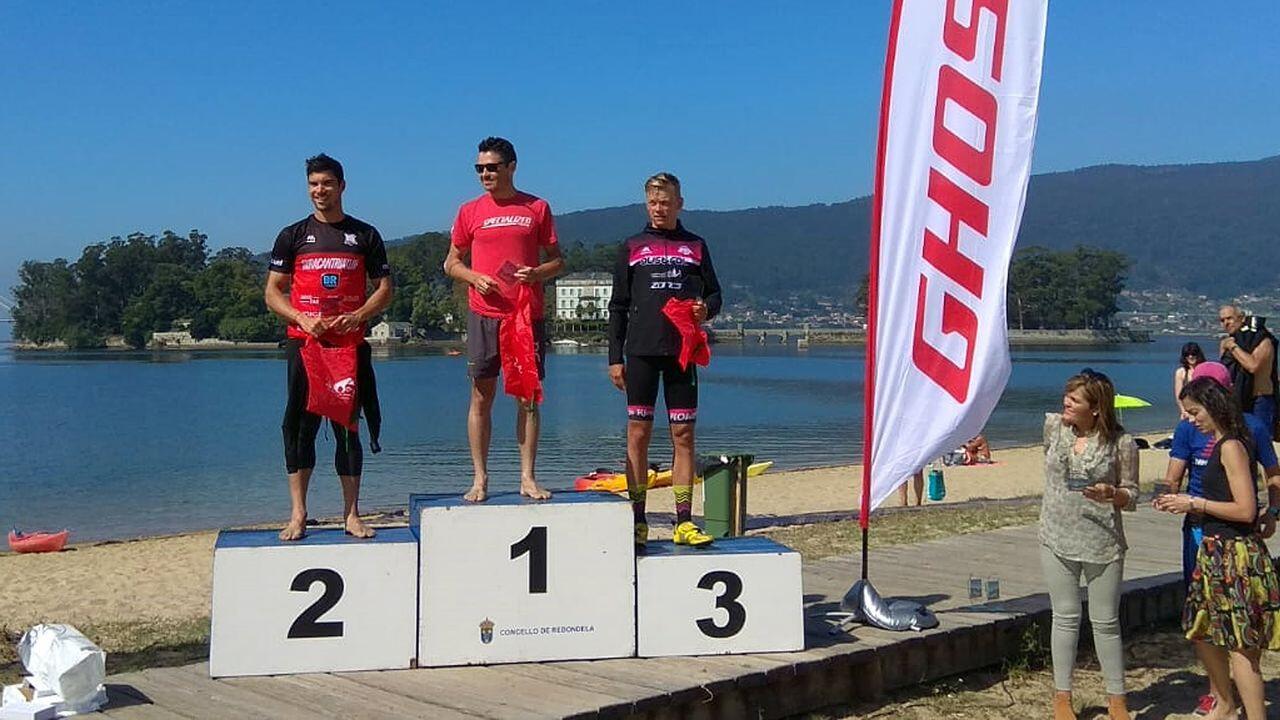 image001-37 Javier Gómez Noya sigue poniéndose a punto y gana una travesía a nado en Pontevedra Noticias Triatlón