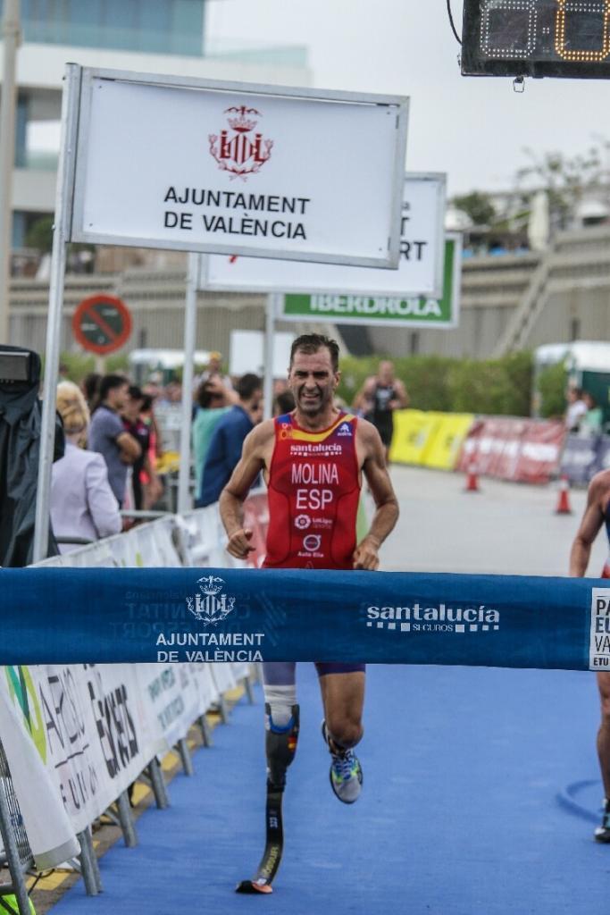Javier Lluch, European Triathlon runner-up in Sub 23 category