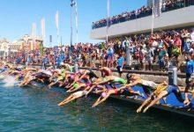 Salida natación Valencia Triatlón