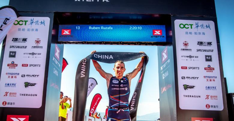 Rubén Ruzafa ganando el XTERRA China