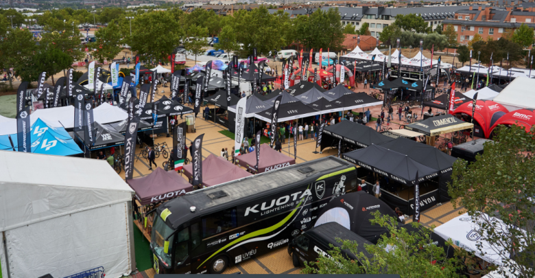 Aerial view of the Festibike 2019