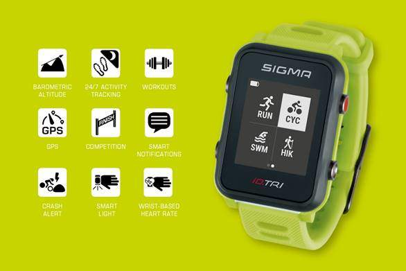 The new watch from SIGMA for Triathlon the iD.TRI
