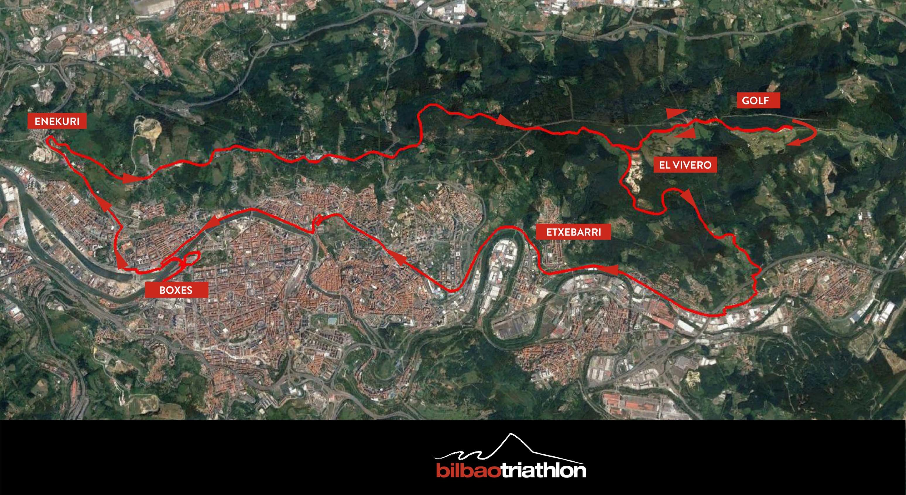News at the Bilbao Triathlon: new cycling circuit
