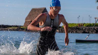 Photo of Alistair Brownle avisa ganando la Ho'ala IRONMAN Training Swim