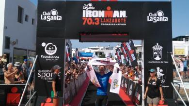 Photo of Frederick Funk and Emma Pallant win the IRONMAN 70.3 Lanzarote. Saleta Castro seventh