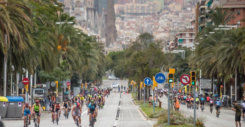 Segmento ciclista del Barcelona Triathlon