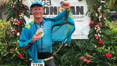 Photo of Alexandre Vinokourov wins in her IRONMAN age group in Hawaii