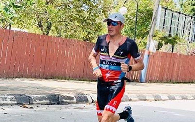Javier Gómez Noya competing in IRONMAN Malaysia