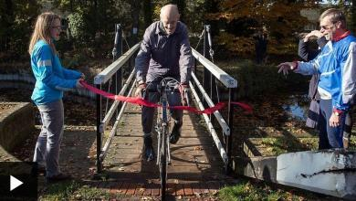 Photo of An 82 year old cyclist rides on his 1 million mile bike