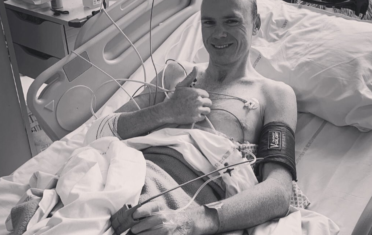 Chris Froome after the operation