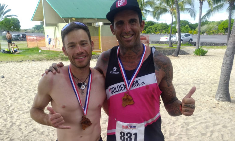 Marc Puig and Josef Arjam in the Ultraman World Championship